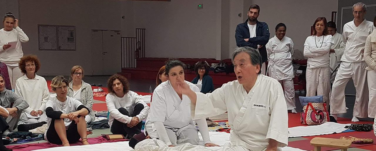 Maître Ohashi et Anne Shiatsu